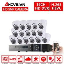 16CH 5MP AHD DVR H.265 Système Kit 5MP 16 pièces Dôme IR 35 M HD Caméra De Sécurité Système de Caméra 5MP Surveillance CCTV Kit Visualisation À Distance