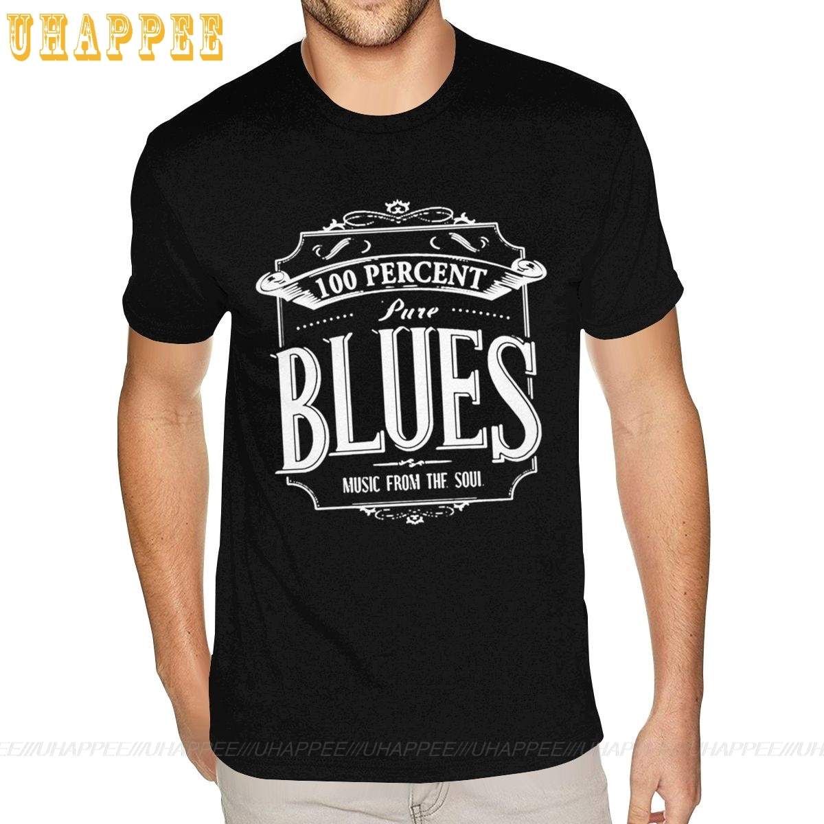 100 por ciento pura Blues camiseta joven chico 90S camisetas para hombres de manga corta precio barato marca Merch