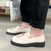 RIZABINA Plus Size 29-46 Women Flats Casual Glove Shoes Women Tassel Fashion Platform Office Lady Daily Outdoor Female Footwear