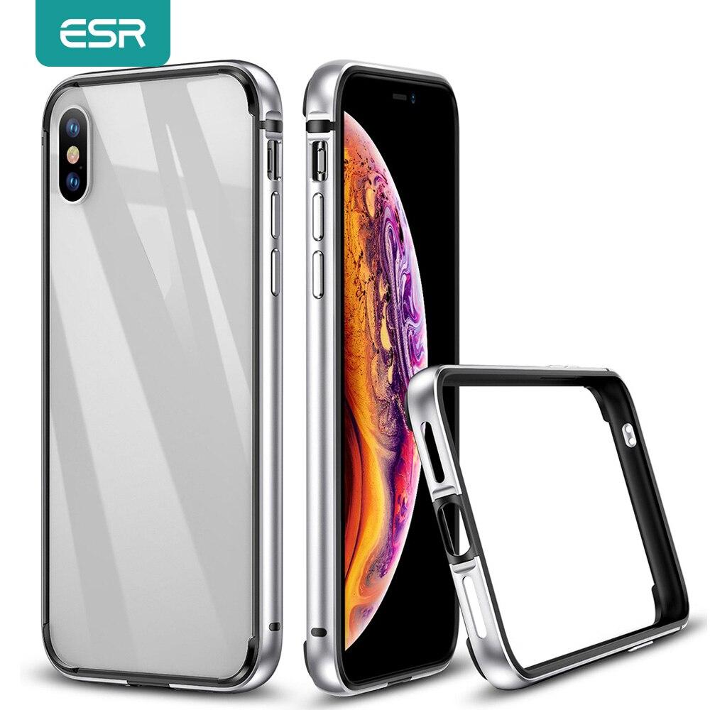 ESR, carcasa paragolpes de Metal para iPhone X XR XS, Armadura de marco de Metal antigolpes con parachoques interno suave para iPhone XR, Funda de lujo
