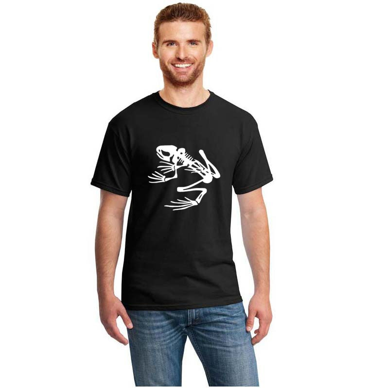 Camiseta de manga corta con diseño de rana y esqueleto de la Marina Socom, Camiseta 100% de algodón para hombre, camiseta Unisex S ~ 3xl para hombre