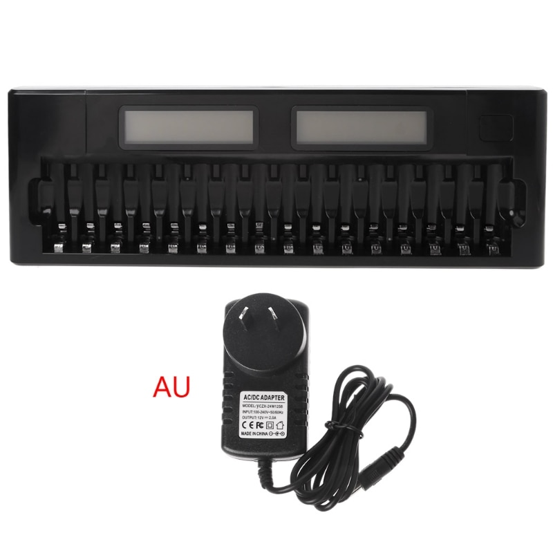16 Slots LCD Intelligent Smart Battery Charger 1.2V AA AAA Ni-MH Ni-Cd Batteries 69HF enlarge
