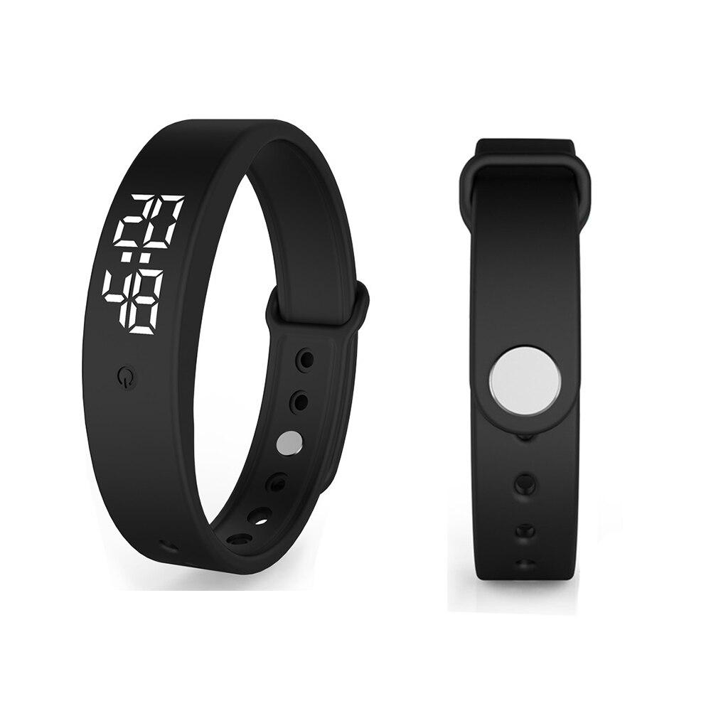 Smarthwatch Mit Automatische Körper Temperatur Prüfung Smart Armband Vibration Alarm LED Fitness Armband IP67 Wasserdicht