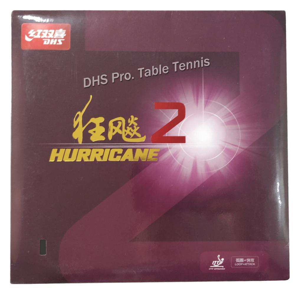 DHS Hurricane2 Hurricane2, Hurricane-2 Pips-In ping pong goma con esponja de 2,2mm