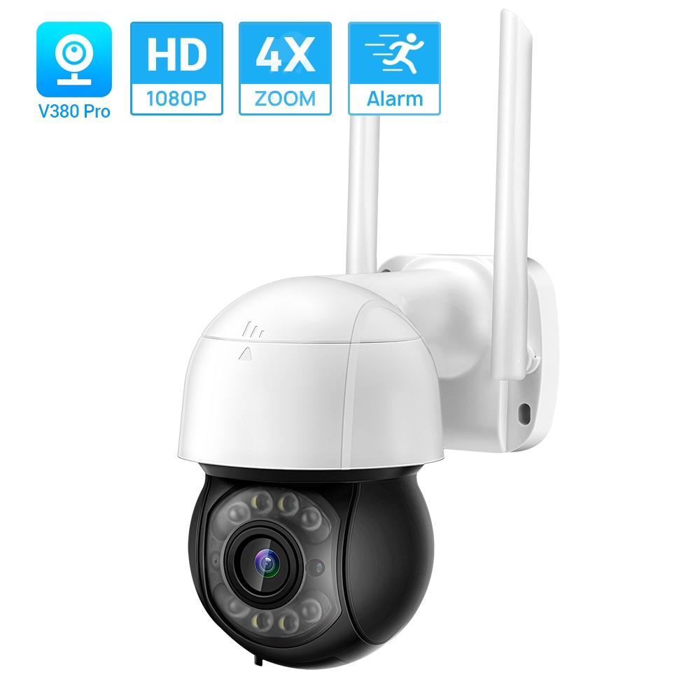 HD1080P PTZ في الهواء الطلق واي فاي كاميرا ONVIF كاميرا IP لاسلكية تتبع السيارات AI كشف الإنسان اتجاهين الصوت V380 سحابة التخزين