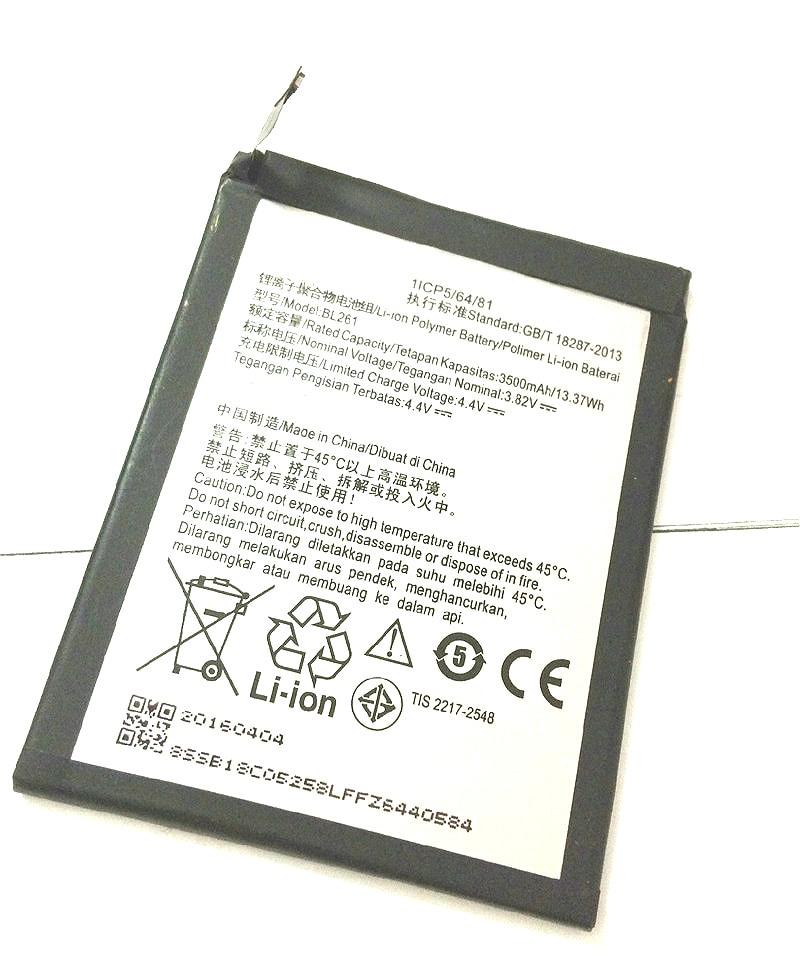 Аккумулятор BL261 для Lenovo Lemon K5 Note K52t38 K52e78 Vibe K5 Note A7020a40 A7020a48, 3500 мАч
