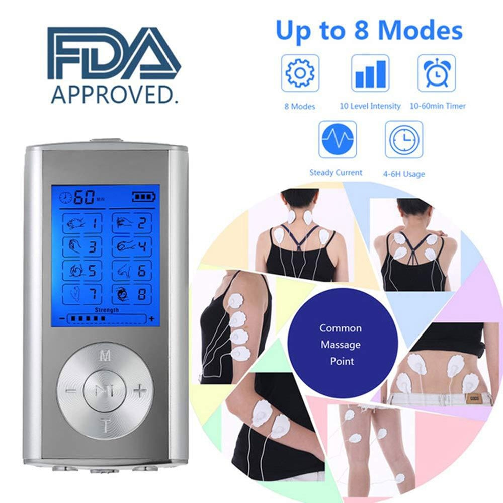 electric vinration body massager ems muscle relax rf heat therapy lymphatic drainage massage machine back arm neck guasha device TENS EMS Unit 8 Modes Digital Palm Device Best Pain Relief Machine for Neck Back Lumbar Muscle Stimulator Therapy Body Massager