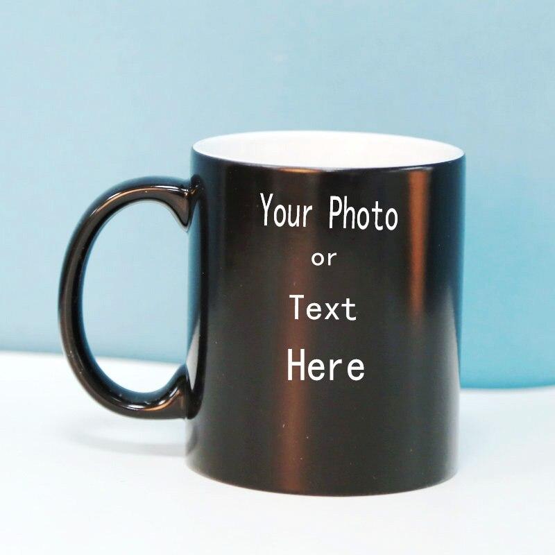 Tasse à café en céramique à couleur changeante   Bricolage, LOGO créatif de texte dimage, tasse en céramique, cadeau