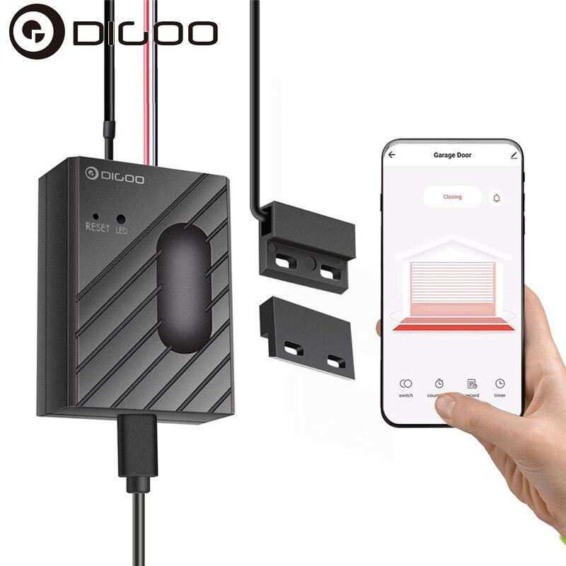 DIGOO DG-CK400 puerta de garaje Motor WiFi controlador inteligente Sensor aplicación remota Control temporizador interruptor de trabajo con Tuya Amazon Alexa Google