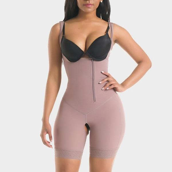 Zipper Button Full Body Shaping Corset Stomach Slimming Belt Panties With Gluteus Filling Thin Waist Corset