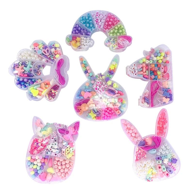 Бусины для девочек, игрушки ручной работы, ожерелье, браслет, ювелирные изделия, бусины, материалы для рукоделия, Набор для изготовления юве...