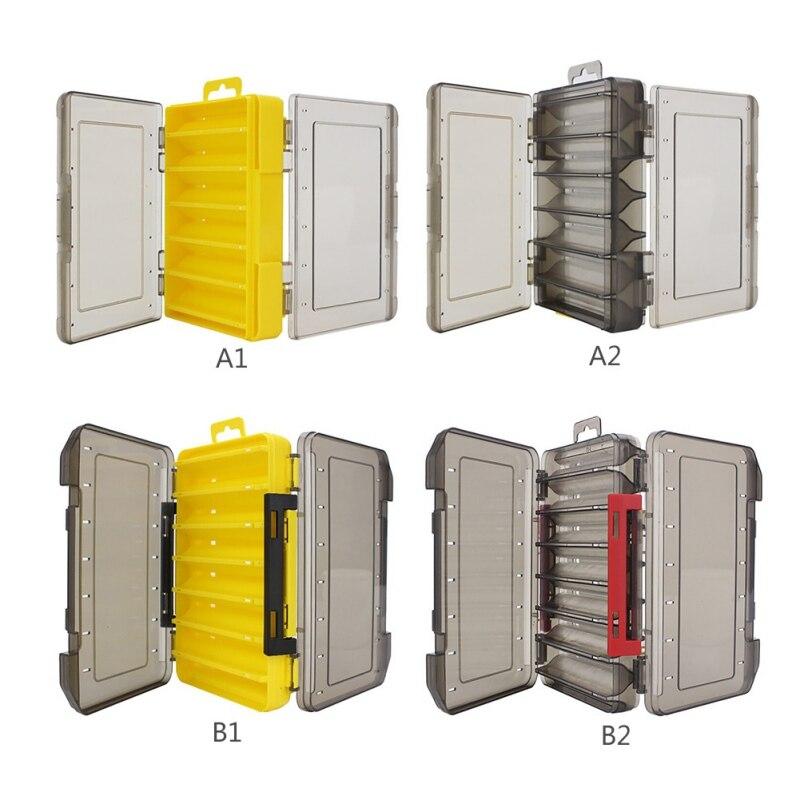 Caliente Señuelos de Pesca caja Double-decker Sub-caja de cebo de pesca de caja de almacenamiento doble cara caja