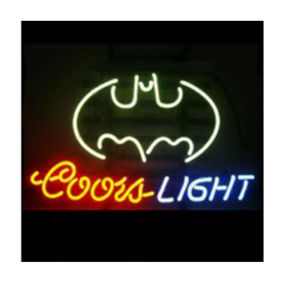Coors ضوء الخفافيش النيون تسجيل مخصص اليدوية أنبوب زجاجي حقيقي البيرة بار مخزن موتيل ديكور المنزل الإعلان عرض مصباح 17
