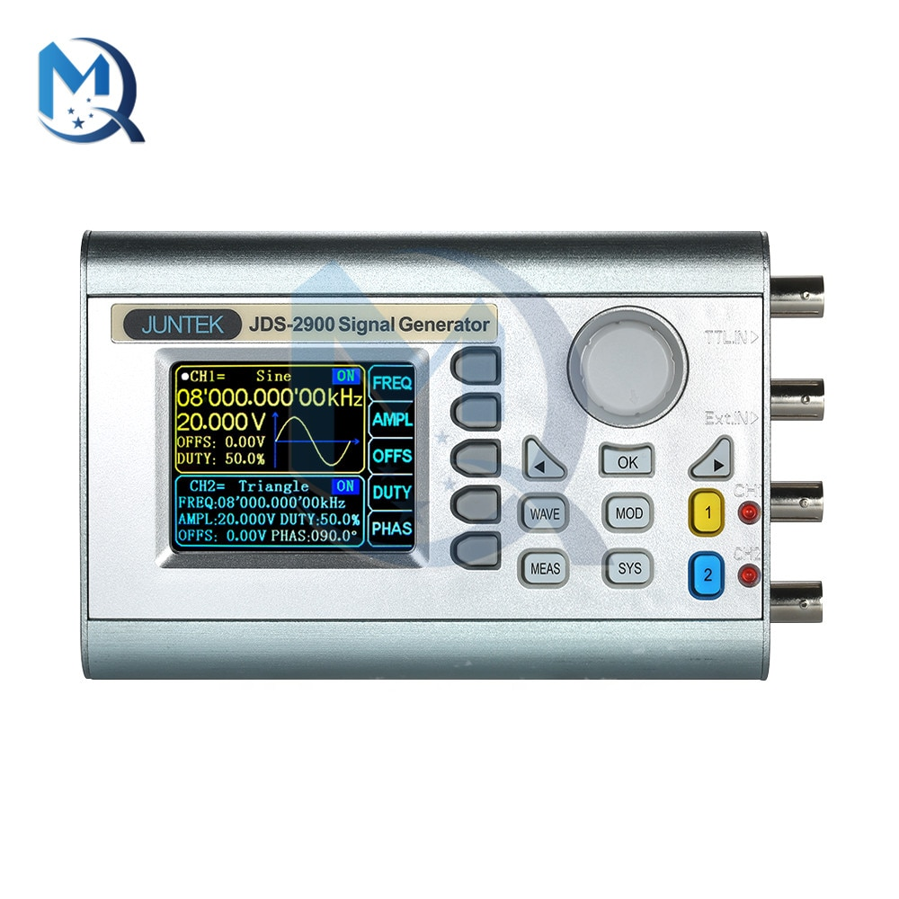 JDS2900-50MHz Signal Generator Kit 5V Full CNC Dual Channel DDS Function Arbitrary Wave Signal Generator USB to Serial Interface