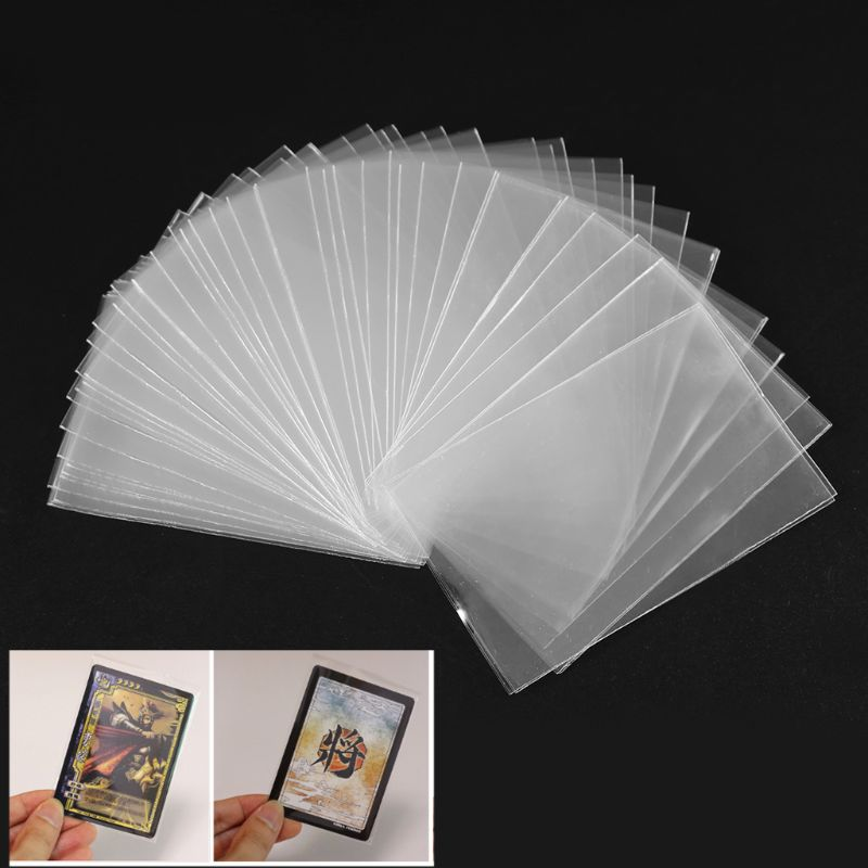 100Pcs Protector Card Sleeves Magic Board Game Tarot Case Three Kingdoms Poker Cards Protector Multi-size Protective Case