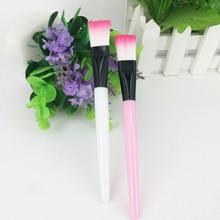 2Colors Soft Mask Brush Plastic Handle Skin Care Makeup Brush Flat Head Fiber Hair Beauty Makeup Too