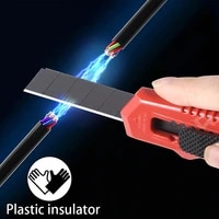 qhtitec aluminum alloy utility knife insulation paper cutter retractable cutting diy art knives stationery household hand tools