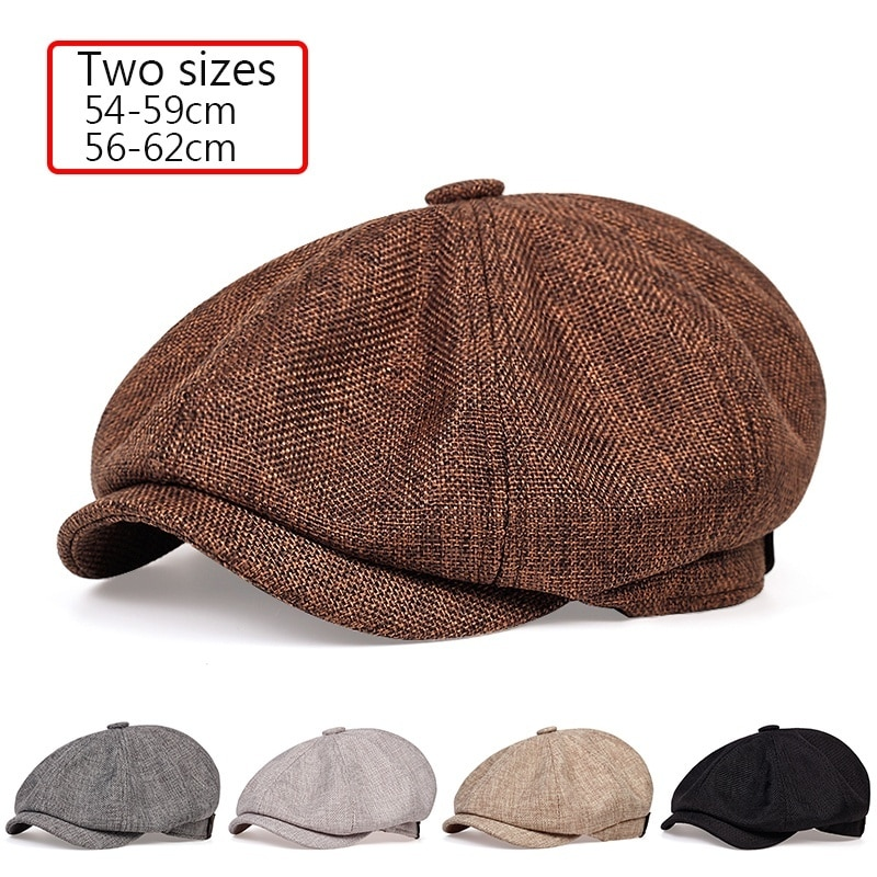 2020 New men's casual newsboy hat spring and autumn retro beret hat wild casual hats uni wild octagonal cap