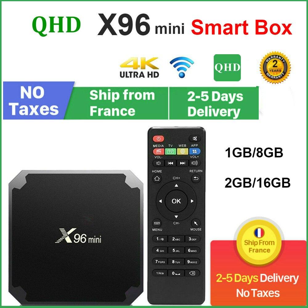 Original QHDTV X96 Mini Set-top box Android 9.0 8GB 16GB AMLOGIC S905W quad CORE X96Mini leadcool An