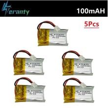 3.7v 100mah lipo bateria para cheerson Cx-10 Cx-10a FQ777-124 hubsan q4 wltoys v272 mini rc quadcopter brinquedos zangão bateria 5 pçs