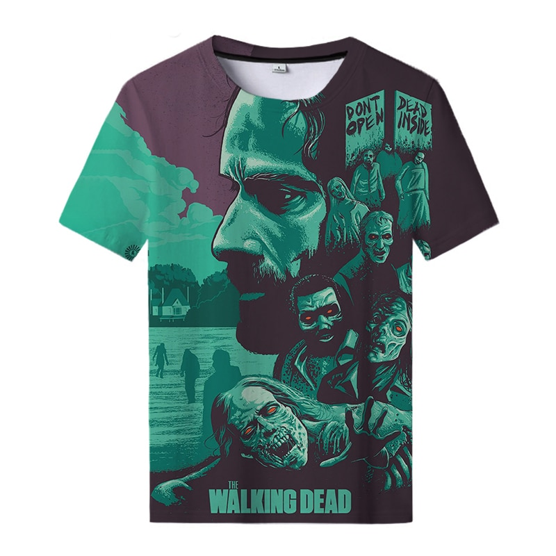 The New Walking Dead 3D Printed T-shirt Cool Horror Men and Women Casual Round Neck Sports T-shirts