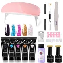 XZMUV 15ML nail polish for manicure drying lamp UV Nail Gel Kit Set Nail tool Nail Art Brush fake Na