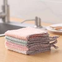 5pcs 2525cm large size grease free cleaning cloth kitchen cleaning tools absorbent towel eco friendly wash bowl souring pad