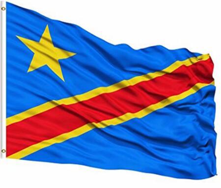 Congo flag waving on the wind Stock Flag custom hobby business history banner flag 90x150cm