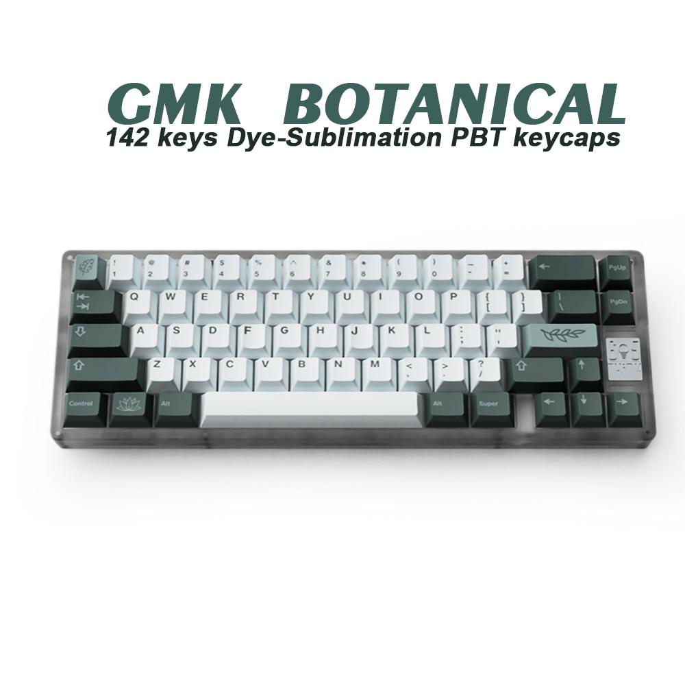 141 клавиш GMK, ботаническая клавиатура PBT, колпачки для клавиш с вишневым профилем, персонализированные колпачки для клавиатуры с механическо...