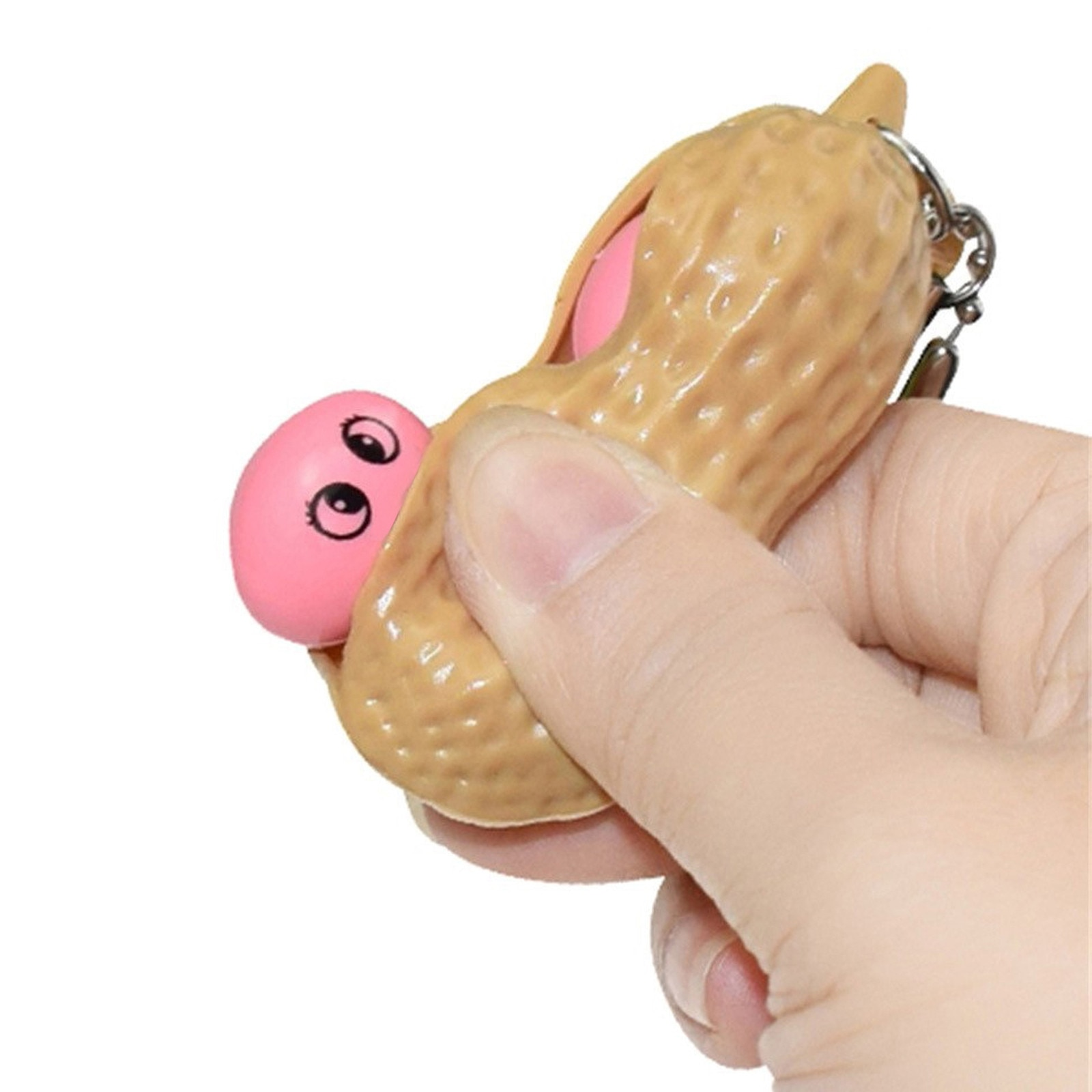 3PCS Creativity Fidgets Toys Antistress Decompression Squishy Squeeze peanut Toys Keychain Toy for Adult children kids boy girl enlarge
