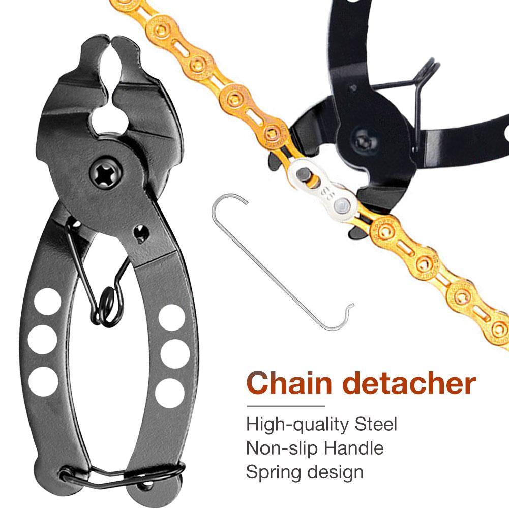 Alicate para cadena de bicicleta, 1 Uds., herramienta de pinzas de enlace rápido, removedor de enlace maestro, abridor, palanca, herramienta portátil de eslabones de cadena para bicicleta
