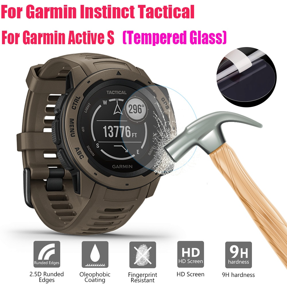 Transparent Protective Film HD Tempered Screen Glass Screen Protector For Garmin Instinct Tactical Active S Watch Accessories