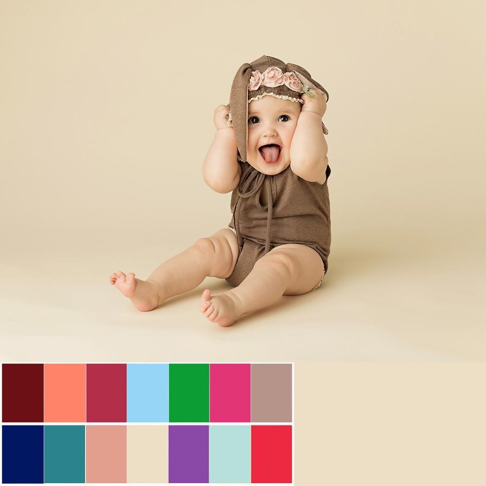 Fondo fotográfico de Color liso para niños y adultos, Fondo para fotografía, retrato de fondo verde, rojo, negro y azul para estudio de fotografía