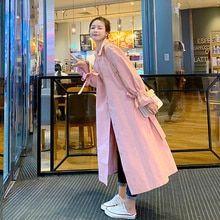 Spot 2021 Autumn Style Pink Trench Coat