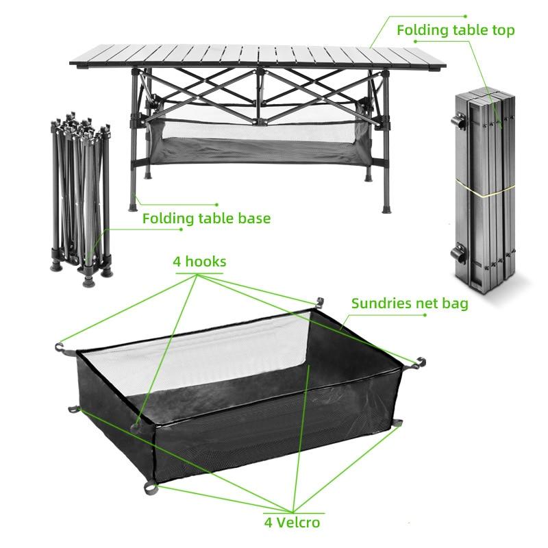 Mesa plegable para acampar, muebles para exteriores, jardín, picnic