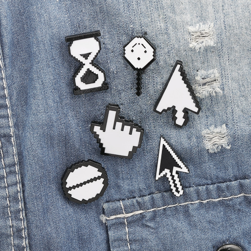 Photoshop Tool Collection Enamel Pin Mouse Arrow Brooch Denim Jeans shirt bag Office Software Jewelry Gift for Friends Staff