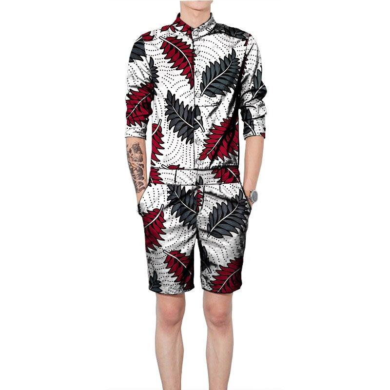 Африканская одежда, мужские рубашки с шортами, модный Дашики, Мужской комплект, африканские наряды на заказ для вечерние