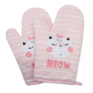 Extra thick extended heat insulation, heat proof microwave oven and heat resistant kitchen baking oven gloves