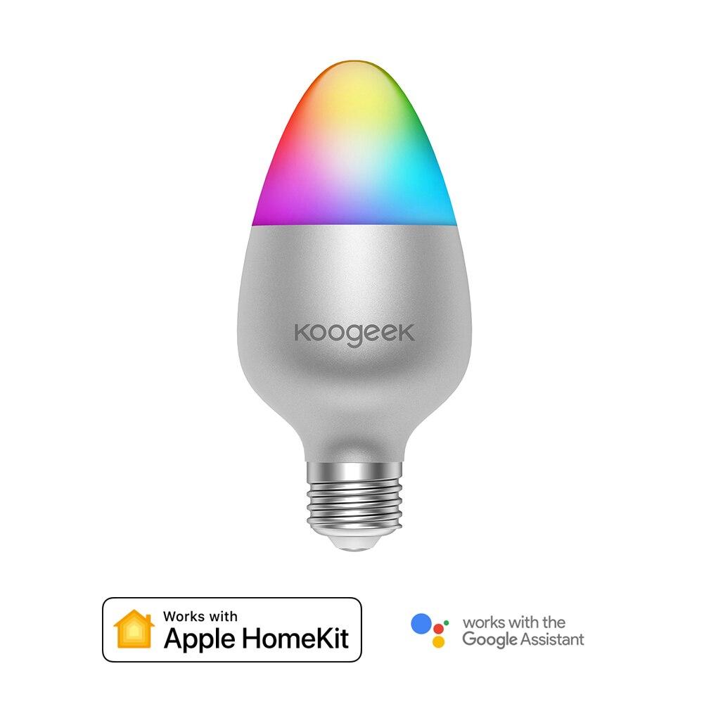 8W WiFi Smart Light Bulb For Apple HomeKit E26 E27 LED 16 Million Colors Lamp Work with Alexa/Google Home Dimmable Magic Bulb