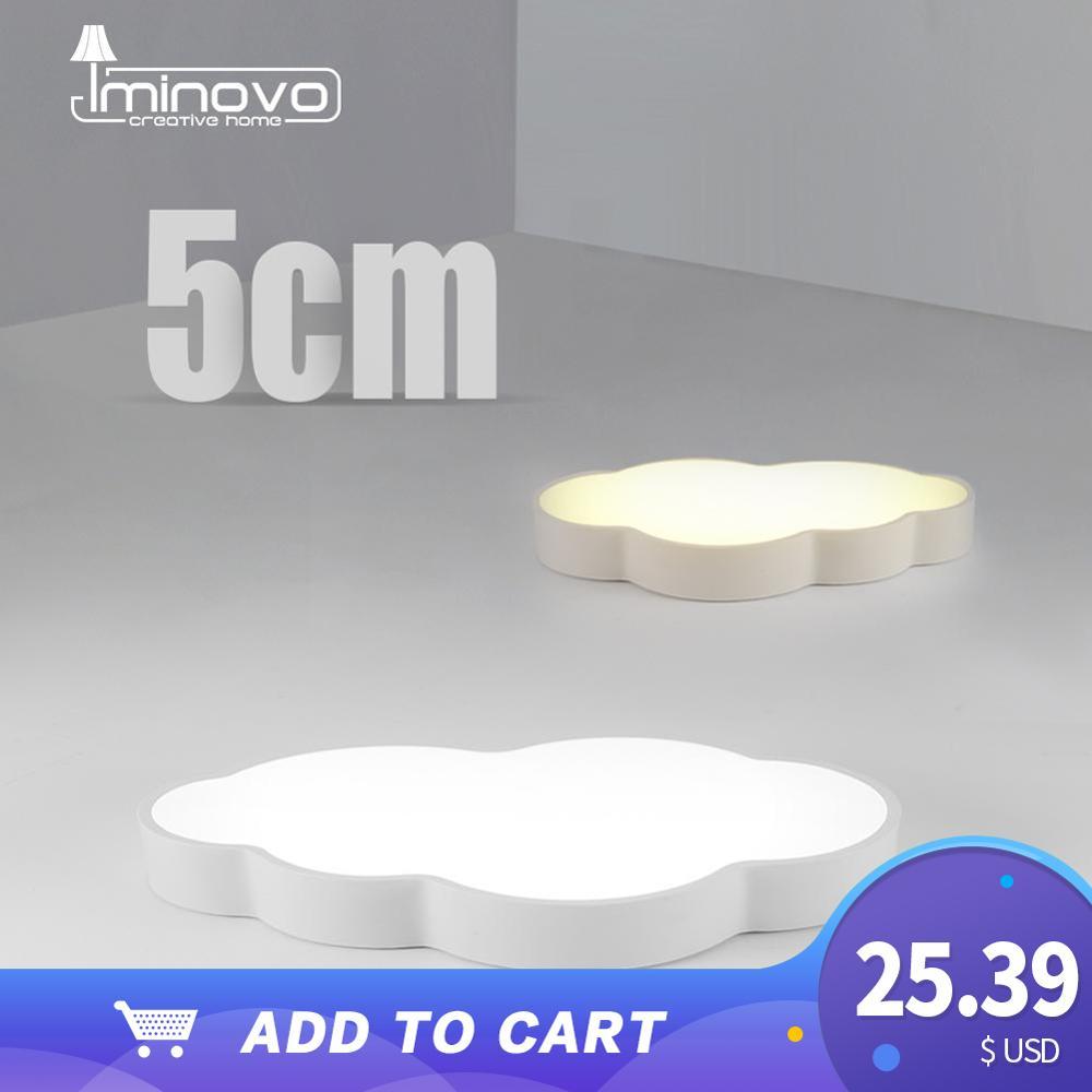 Led luz de teto lâmpada nuvem regulável moderno berçário quarto dos desenhos animados superfície montado iluminação controle remoto ac 110v 220v