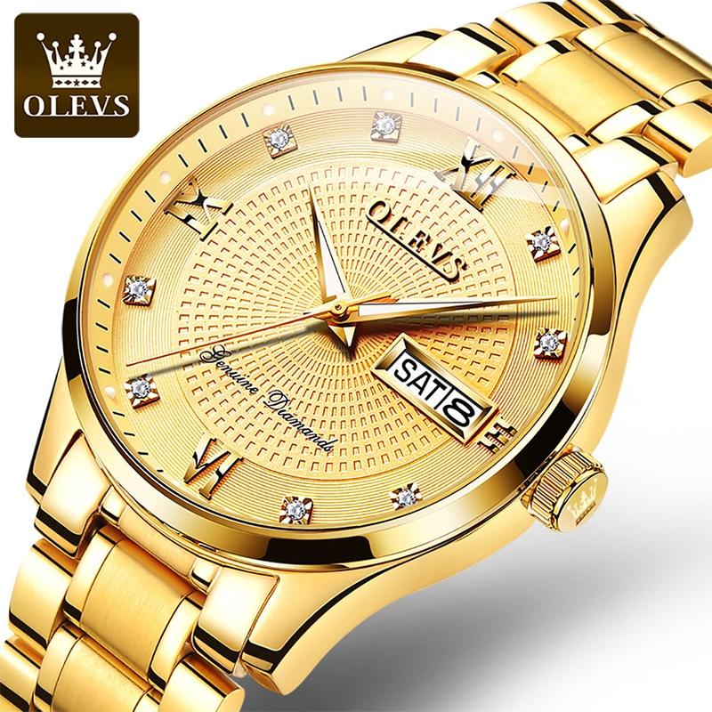 OLEVS 2021 New Men's Luxury Watch Automatic Mechanical Waterproof Dial Luminous Calendar Week Display Watches Reloj Hombre 6603 enlarge