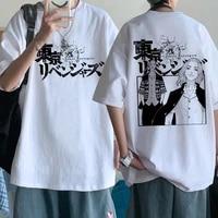 2021 hot japanese anime tokyo revengers t shirt men harajuku hip hop summer kawaii tshirt male