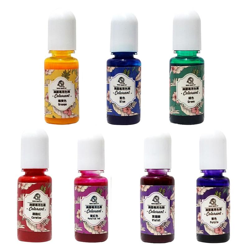 10g UV resina colorante tinte colorante resina pigmento epoxi resina pigmento DIY artesanal joyería fabricación herramientas 14 colores /set