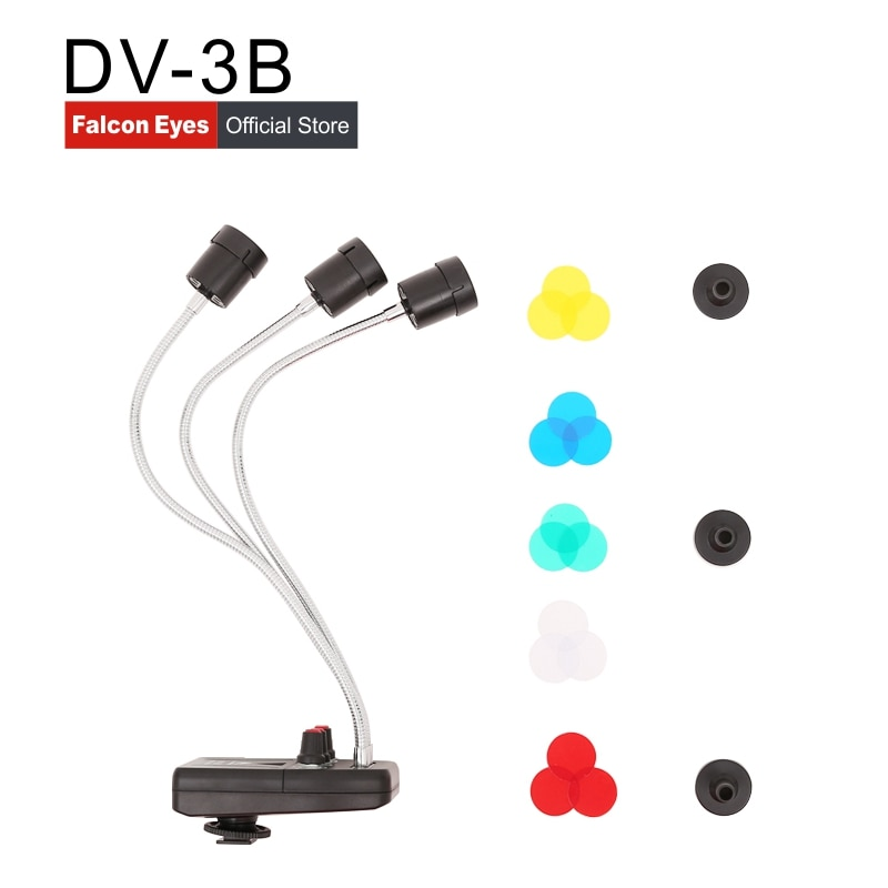 Ojo de halcón Triple 3 LED luz de fondo mágica para Macro disparo/fotografía de joyería/productos de fotografía/Youtube DV-3B
