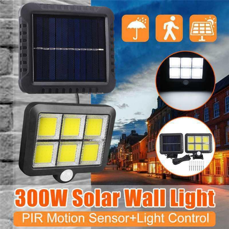 COB 120LED lámpara Solar Sensor de movimiento impermeable al aire libre carretera noche Sensor Infrarot jardín luz soporte Dropship 1/2/4 Uds