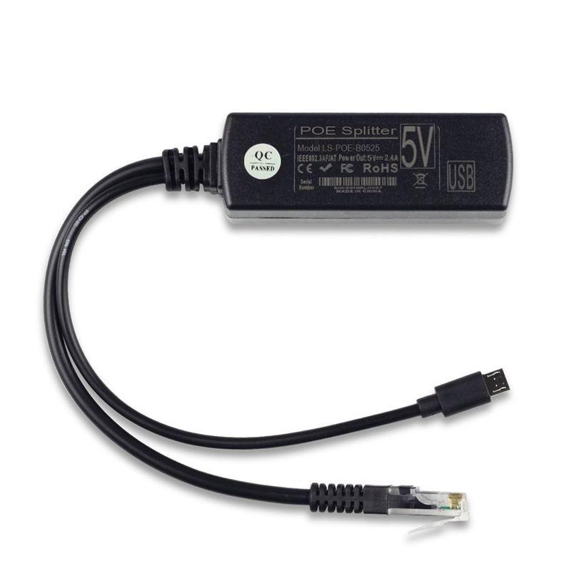 Divisor de interfaz USB de 48V a 5V2. 4A con módulo de fuente de alimentación de POE