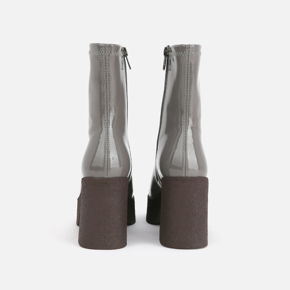 MUMANI امرأة حذاء من الجلد كعب مربع جلد طبيعي موجزة مارتن ساحة تو زيبر 9 سنتيمتر عالية الكعب منصة الأحذية الحديثة