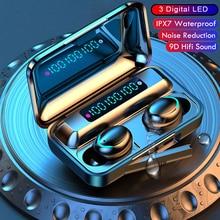 Wireless Earbuds Bluetooth 5.1 Earphones  LED Charging Box Wireless Headphone Deep Bass Stereo Sports Waterproof  Headsets W/Mic