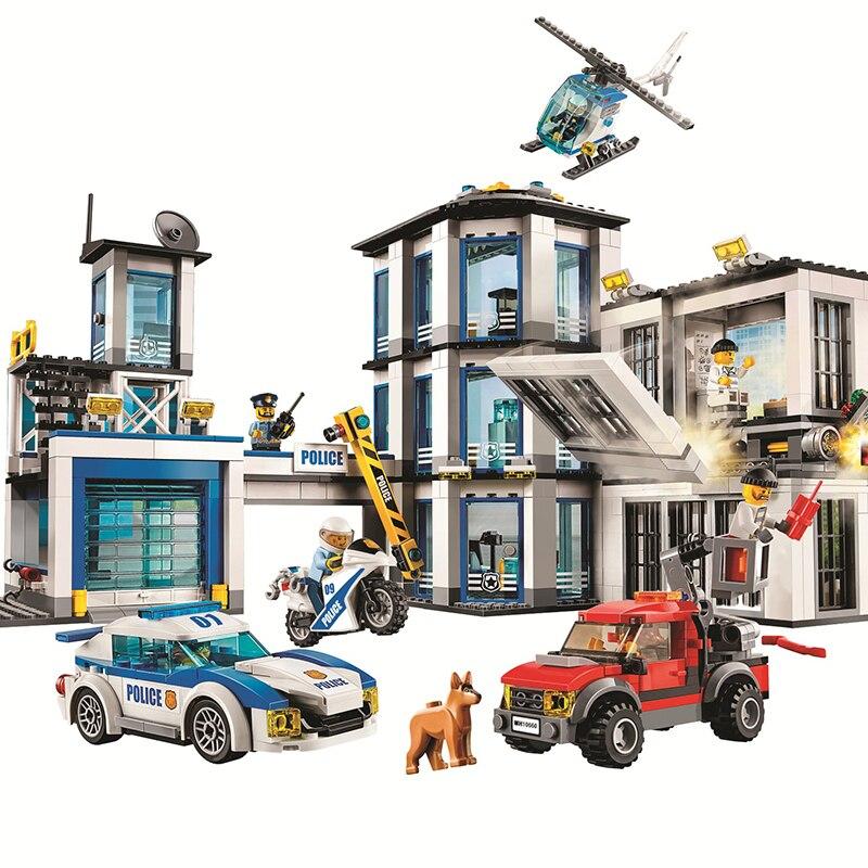 10660 936 шт. городской полицейский участок Бела строительный блок, совместимый с 60141 кирпичи, игрушки, игрушки для детей, строительные блоки