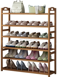 5%Economic Type Shoe Rack Household Multi-layer Simple Storage Shoebox Dust-proof Student Residence Solid Wood Simple And Modern